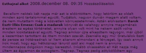 Esthajnal blogja