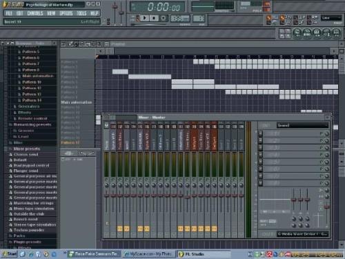 Fruityloops-szal készül épp a zene