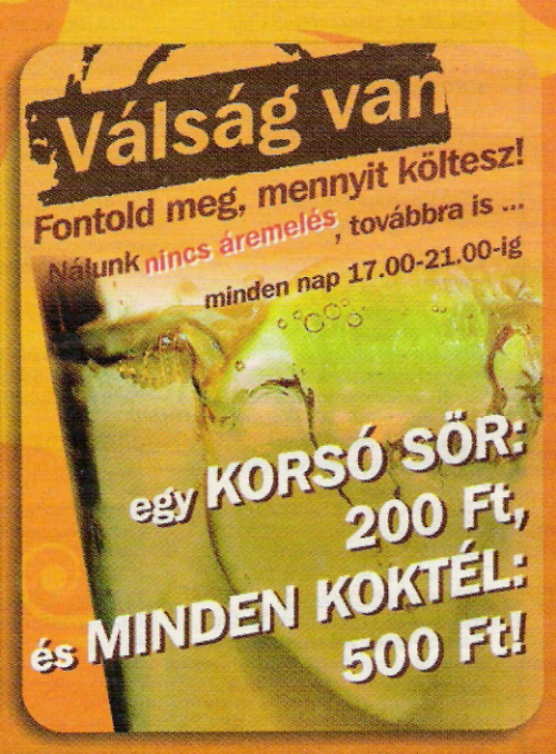 Tipikus reklám 2009 februárjából