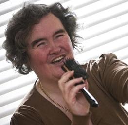 A Susan Boyle-oldal mottója: never judge a book by its cover - szomorú, hogy ezt ki kellett írni