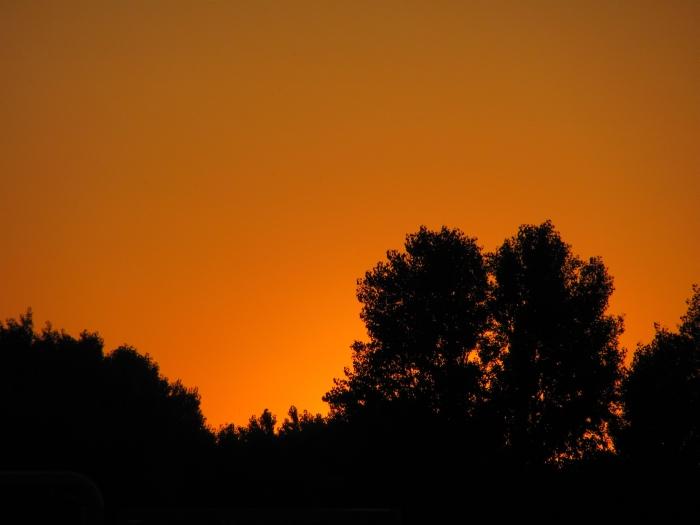 Naplemente, útközben, saját kép