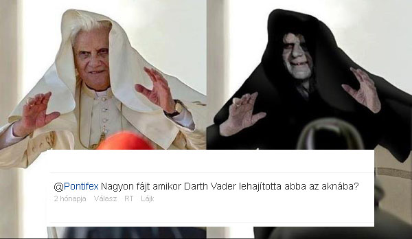 A klasszikus mém és a frissen beizzított pápai Twitter legjobb kérdése