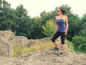 Ma, a Benevár romjainál - még a zokni is futócucc