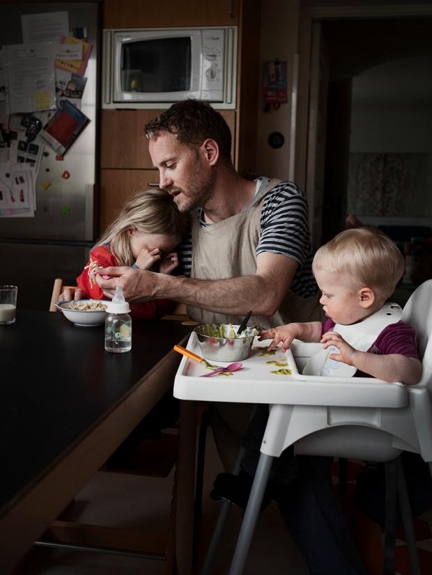 A 34 éves Ivo 9 hónappig volt szülői szabadságon gyerekeivel - Forrás: http://www.johanbavman.se/swedish-dads/