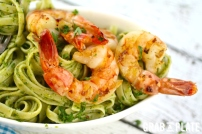 Shrimp-Chimichurri-pasta